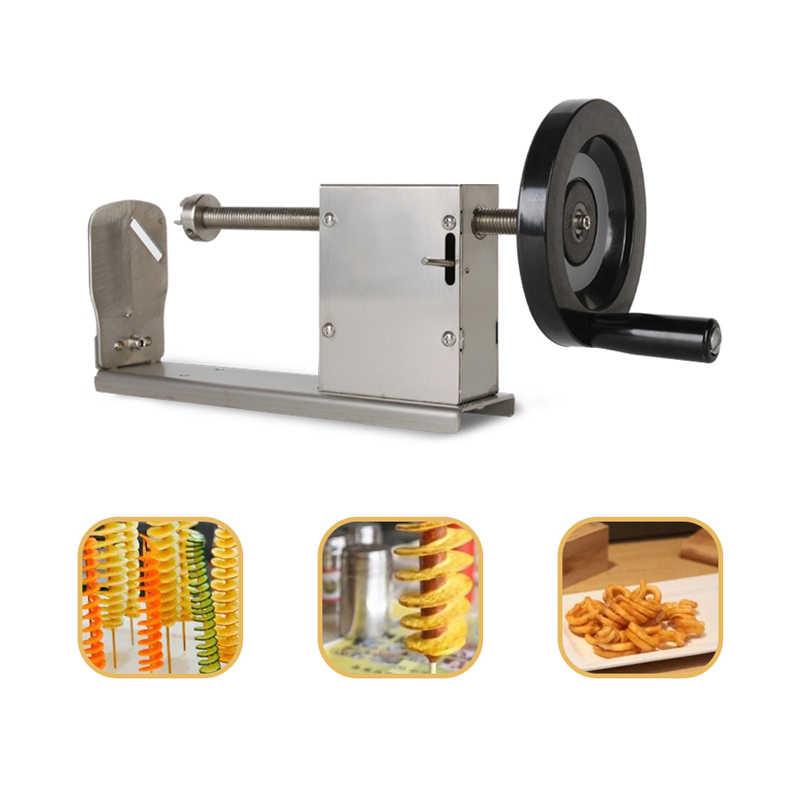 Резчик картофеля спиралью машинка для спиральной нарезки картофеля многофункциональный Нержавеющаясталь овощ-картофель морковь витой кухонный инвентарь для тонкой нарезки