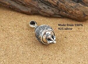 Image 3 - Real 925 Silver Tibetan OM Mani Padme Hum Dorje Pendant vintage sterling silver OM Dorje Pendant Buddhist Pendant