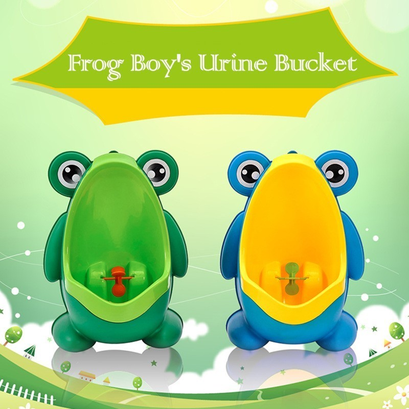 2019 New Arrival Cute Frog Little Boy's Potty Toilet Urinal Pee Trainer Wall-Mounted Kid Boy Bathroom Frog Urinal Penico Pinico