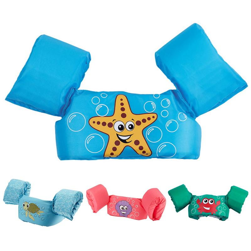 Children Kids Baby Float Arm Swimming Cartoon Life Float Jacket Safety Vest Swimming Pool Piscine Accessories