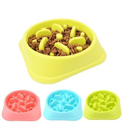 ペット犬食品ボウル子犬遅く食べるフィーダー皿腸肥満犬用品ドロップシッピング