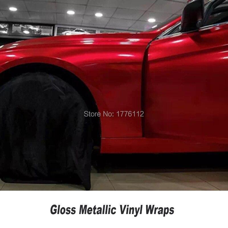 gloss lipstick red like gloss metallic vinyl wrap Roll For car 5ft X 65ft Roll vinil