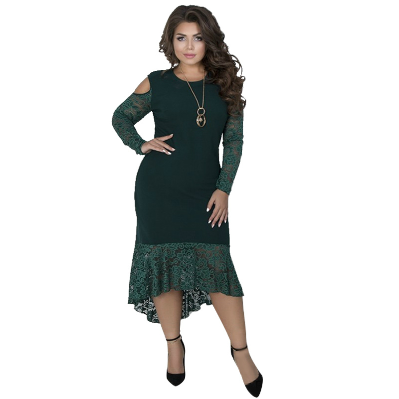 ba944b11d62 2018 Christmas Party Dress Elegant Lace Maxi Dress Plus Size Winter Dress  Sexy Bodycon Bandage Women
