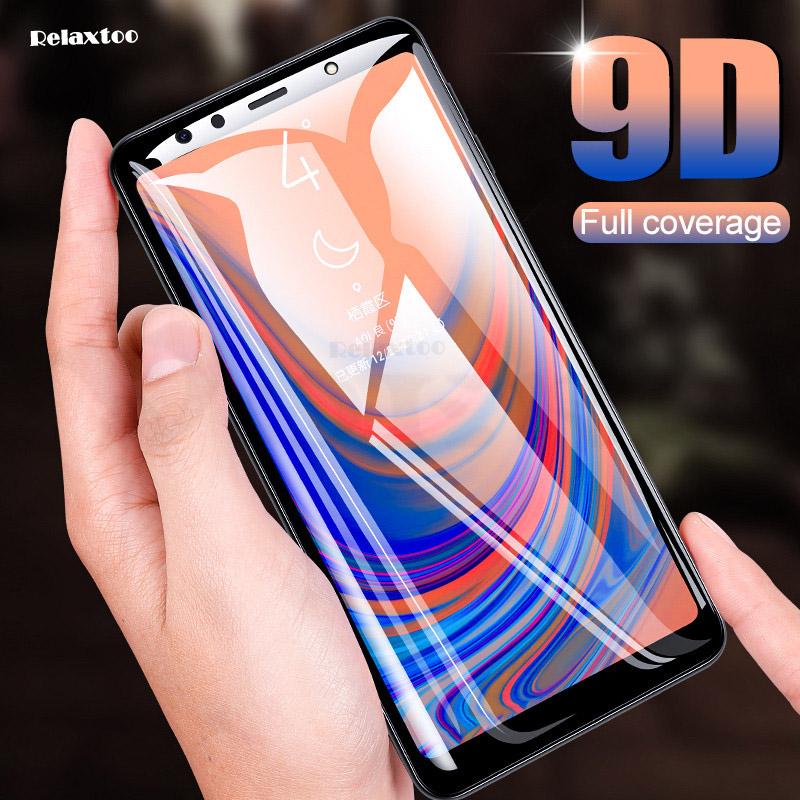 9D Full Glue Tempered <font><b>Glass</b></font> For <font><b>Samsung</b></font> Galaxy A5 A7 2017 A6 A8 Plus <font><b>2018</b></font> screen protector A7 A750 Protective film on <font><b>a</b></font> 5 6 7 <font><b>8</b></font> image
