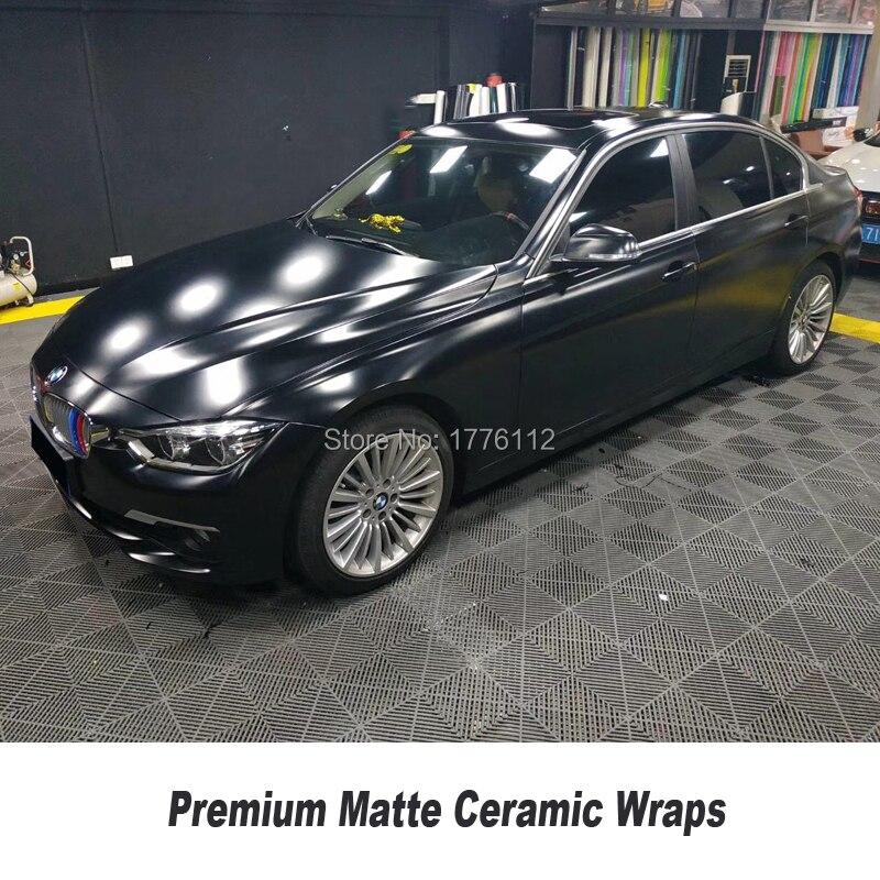 Highest quality matte ceramics black Vinyl Wrap solvent based Premium low initial tack adhesive Classic color