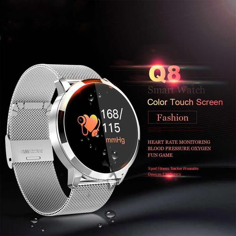 Examen physique Dispositifs Portables Calendrier Montre Smart Watch Hommes Appel Rappel Numérique Montre pour Android IOS Montre-Bracelet Électronique
