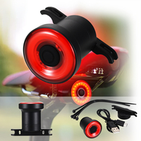 Black Waterproof Bicycle Smart Brake Light Sense LED USB Tail Rear Lamp For XLite 100 Cycling Safety Warning Light