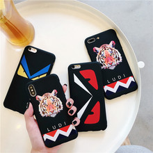 Vintage Tiger Patterned Phone case for iPhone 7 Case 6 6S 8 Plus X XR XS MAX Luxury Soft Silicon Matte Covers