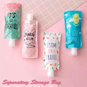 Image 3 - Контейнер для отжима косметики, сумка для хранения лосьона, портативный флакон для геля для душа и шампуня, пакеты для хранения лосьона для мытья лица