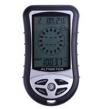 8 в 1 Электронный ручной компас альтиметр барометр термометр погоды Время Календарь Часы с подсветкой компасы
