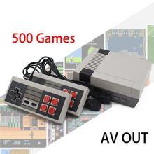 ALLOYSEED Ретро Мини ТВ игровая консоль 8 бит портативный игровой плеер AV порт детская игровая консоль встроенный 500/620 классические игры