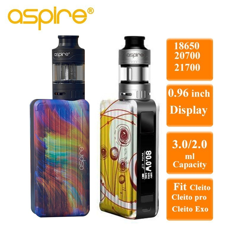 Aspire Puxos Vape Kit Electronic Cigarette 3ml Capacity Compatiable with Cleito Tanks Vaporizador Fit 21700 battery(not include) free shipping techone kraftei epo kit version not include any electronic parts