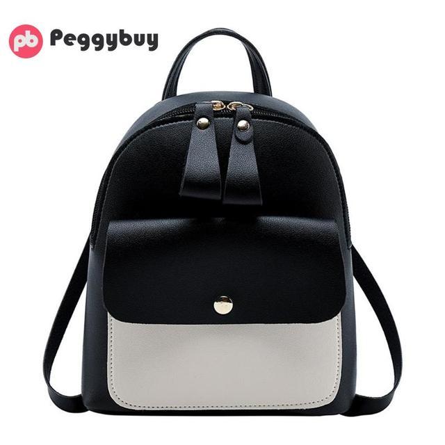 8af9661a61 Fashion Women Mini Backpack PU Leather College Shoulder Satchel School  Rucksack Ladies Girls Casual Travel Bag