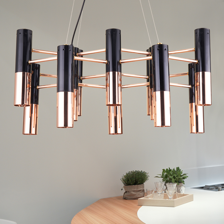 Nordic Modern Creative Aluminum Pendant Light For Living Room Hotel Bedroom Restaurant Simple Gold LED Lamp Hall Engineering