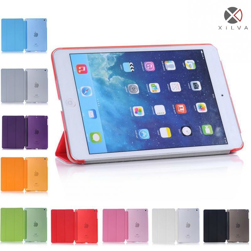 Case For IPad Mini 1 2 3 Tri fold Smart Cover Color Ultra Slim PU Leather Transparent Back Case For IPad Mini 1 2 3 in Tablets e Books Case from Computer Office