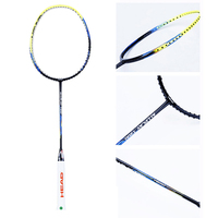 Badminton Racket Full Carbon Professional Light Weight Sturdy Single Badminton Racquet Sports 4U Including String Overgrip Bag