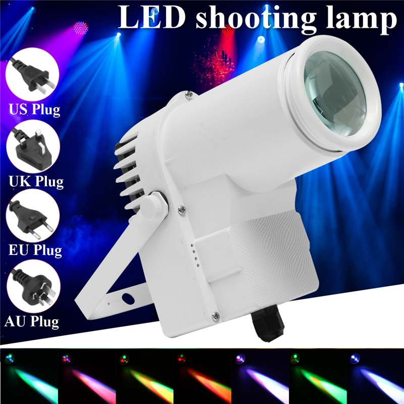 Mising 30W RGBW LED  Lighting Pinspot Beam Spotlight Professional DJ DISCO Party KTV Backlight  Light  100-240V 4 Plug