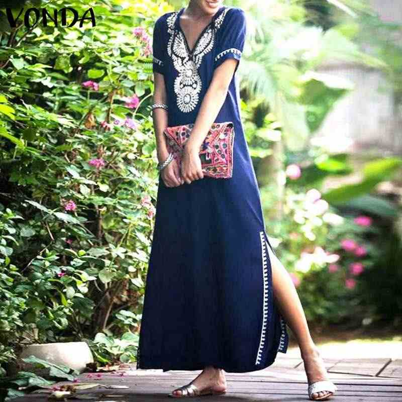 0cec421701e21 Detail Feedback Questions about VONDA Plus Size Women Boho Dress ...