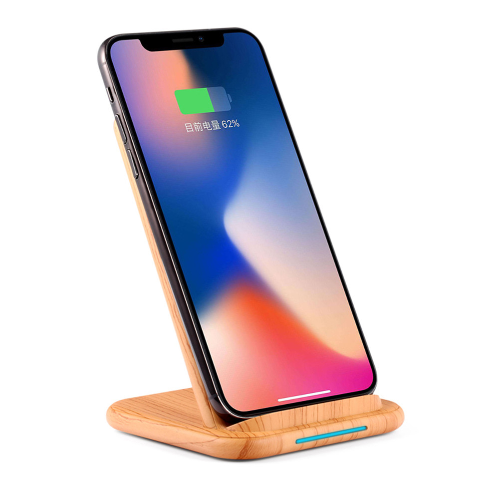 Image 3 - Qi Fast Wireless Charger for Huawei P20 P30 Xiaomi 9 WoodGrain Quick charging Vertical Phone Stand for iPhone X XS MAX XR 8 Plus-in Mobile Phone Chargers from Cellphones & Telecommunications