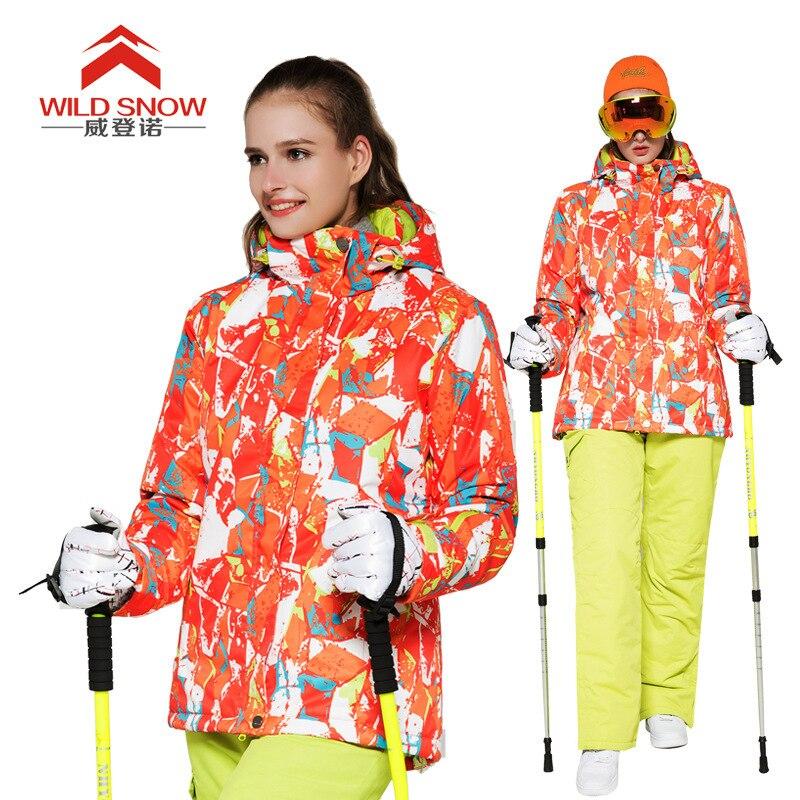 Veste de neige d'hiver et pantalon de Ski femmes Snowboard costumes en plein air thermique imperméable coupe-vent professionnel vêtements de Ski de montagne
