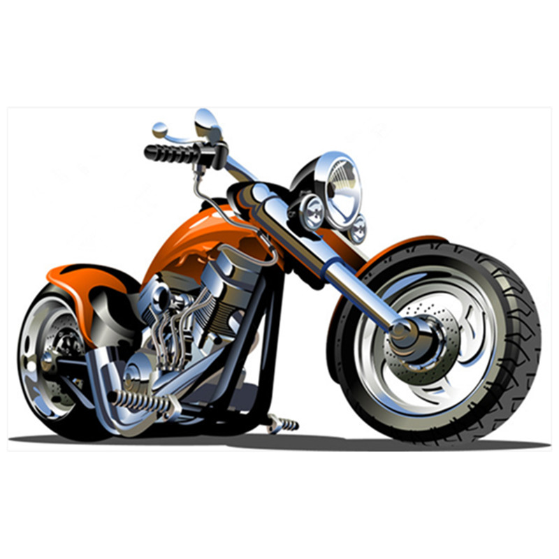 Popular Motorcycle 3d Images Wall Stickers Sports Speed