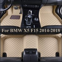 5 seat/set Leather mat car floor mats auto foot Pads automobile carpet cover For BMW X5 F15 2014 2015 2016 2017 2018 5 COLOR