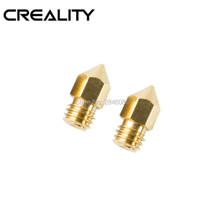 10Pcs Lot 3D Printer Brass Copper Nozzle Sizes 0 2mm 0 3mm 0 4mm 0 5mm 0 6mm 0 8mm Extruder Print Head For 1 75mm MK8 Makerbot