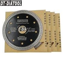 ДТ-DIATOOL 5 шт диам 115мм горяч-отжатый спеченный Алмаз пилы BladeCutting диска С сегменте сетки турбо обода 4,5 дюйма сухой или влажный