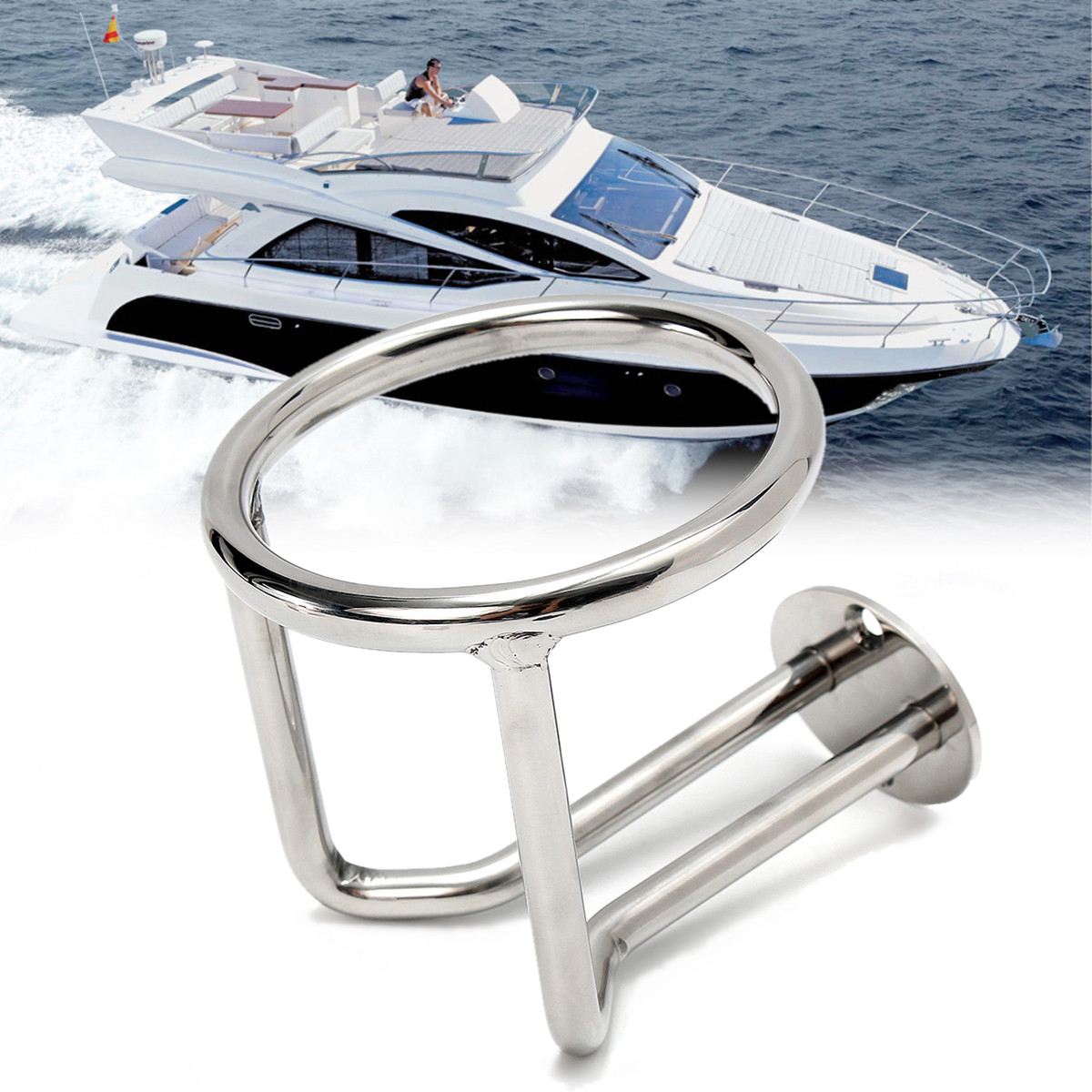316 Stainless Steel Boat Ring Cup Drink Holder For Marine Yacht Truck RV