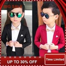 Wedding Boy Dress blazer pant Child Suit Color red and black, Gentle slim Baby Boy costume School Performance Kid Suit недорого