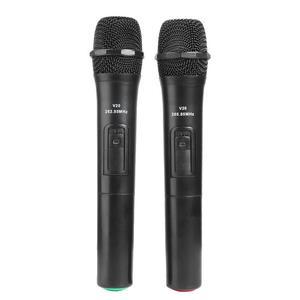 Image 2 - 2 Chiếc 268.85 MHz/262.85 MHz Thông Minh Micro Không Dây Màu Đen Cho Phòng Thu Âm Karaoke Cầm Tay Mic Hát Karaoke Với USB đầu Thu