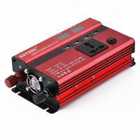 Portable 600W Car Power Inverter 12/24V To 350W 10.4V 11V AC 220V 4 14.5V 15.5V USB Ports