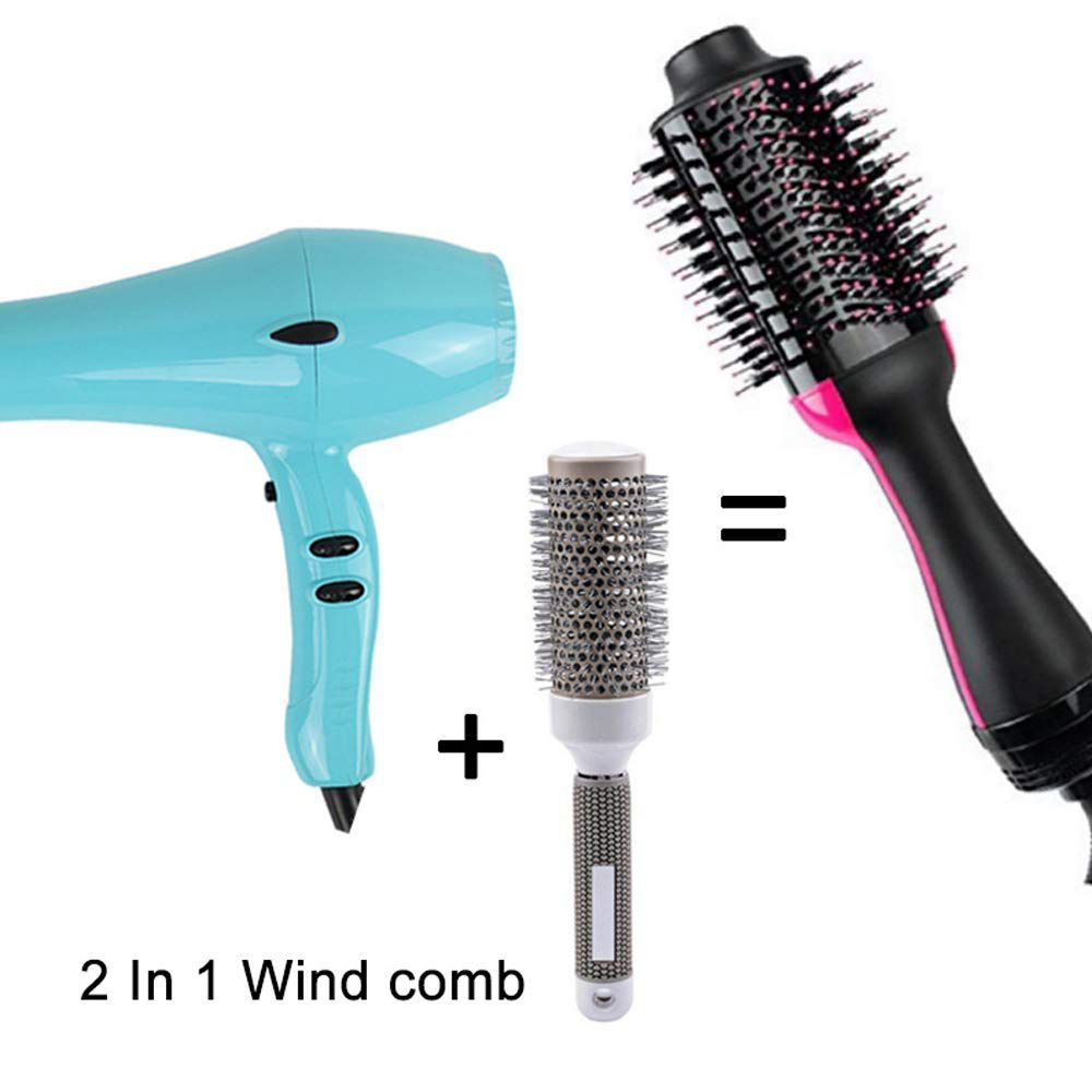 Image 5 - One Step Hair Dryer and Volumizer, ManKami Salon Hot Air Paddle Styling Brush Negative Ion Generator Hair Straightener Curler-in Hair Dryers from Home Appliances