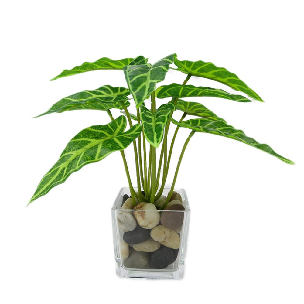 Fake Leaf Foliage Green Indoor Outdoor Artificial Plant Office Garden Decor