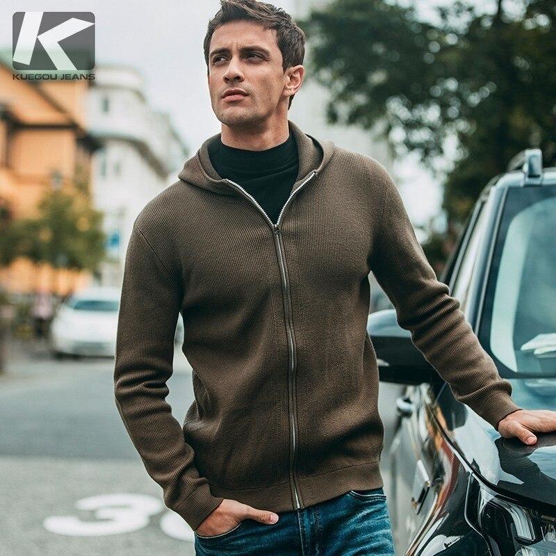 Automne Hommes Chandail Coton Zipper Patch Designs Noir Cardigan Pour Homme Casual Slim Fit Vêtements Nouveau Mâle Porter Tricots Manteau 11800