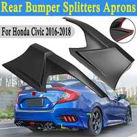 2Pcs Rear Bumper Side Splitters Lip Apron Valance For Honda for Civic 2016 2018 JDM