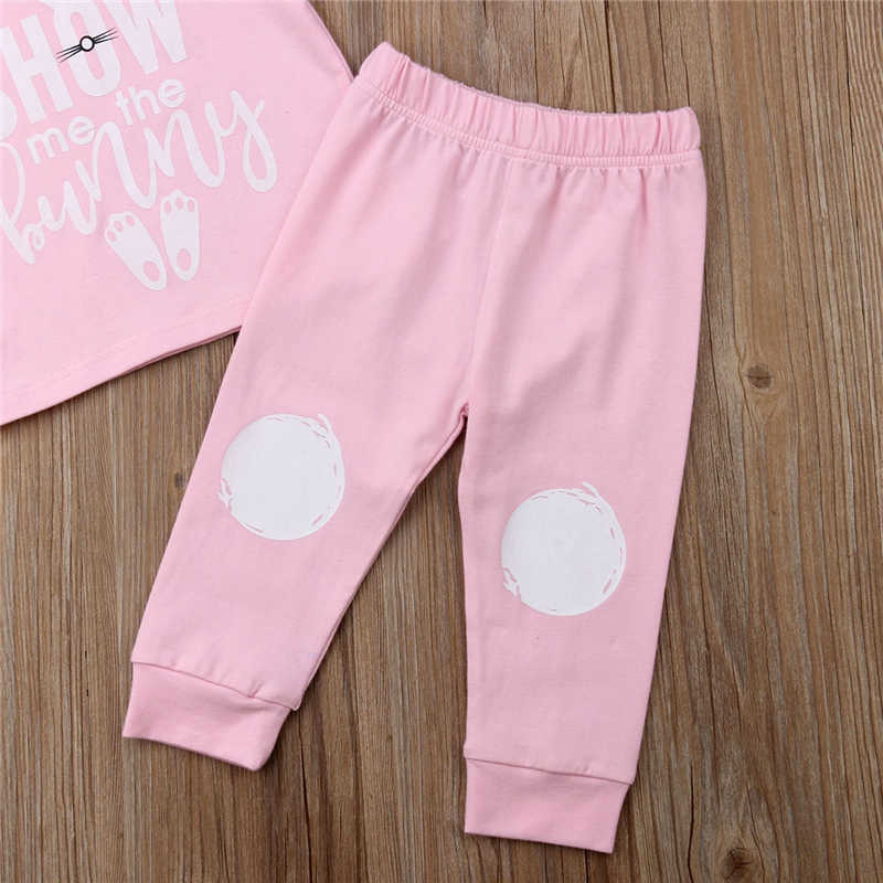 72981863d ... Toddler Baby Boy Girl Easter Clothes T-Shirt Tops+Long Leggings Casual  Outfit Set
