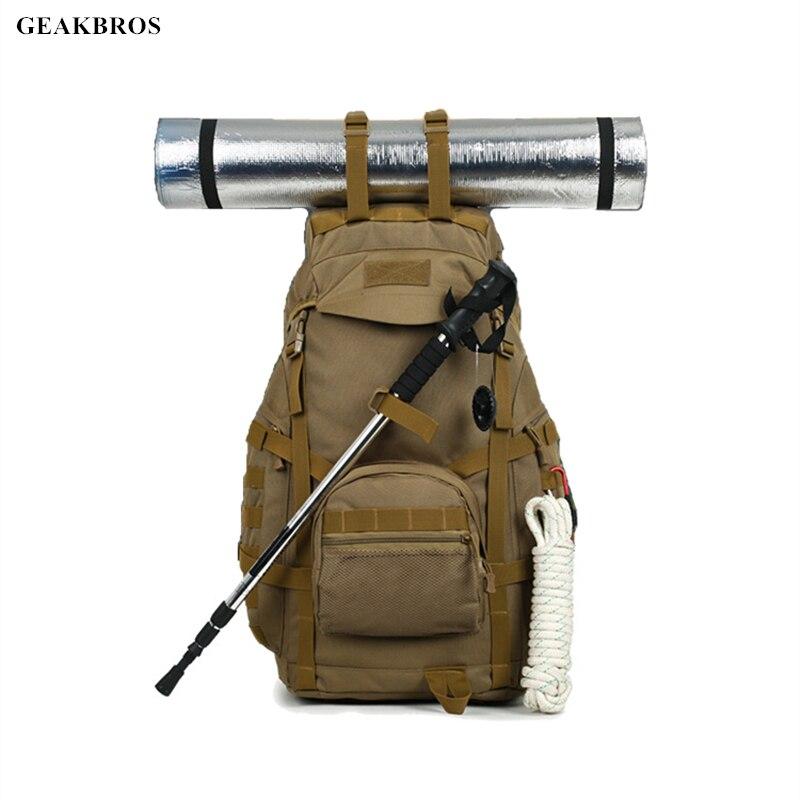 50L sac à dos en plein air Molle militaire tactique sac à dos sac à dos sac de sport imperméable Camping randonnée chasse sac à dos pour voyage