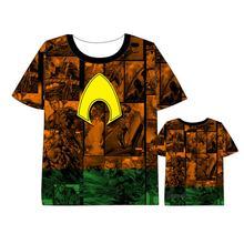 Hot New DC superhero Aquaman  movie T-shirt Men Women Short Sleeve Summe dress aquaman Cosplay Costumes Tops Unisex t shirt