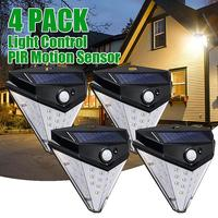 4pcs 32LED Solar Lamp Wall Light Super Bright 4 Side Lights 2835smd 800lm Motion Sensors Durable Outdoor Solar Lamps Waterproof