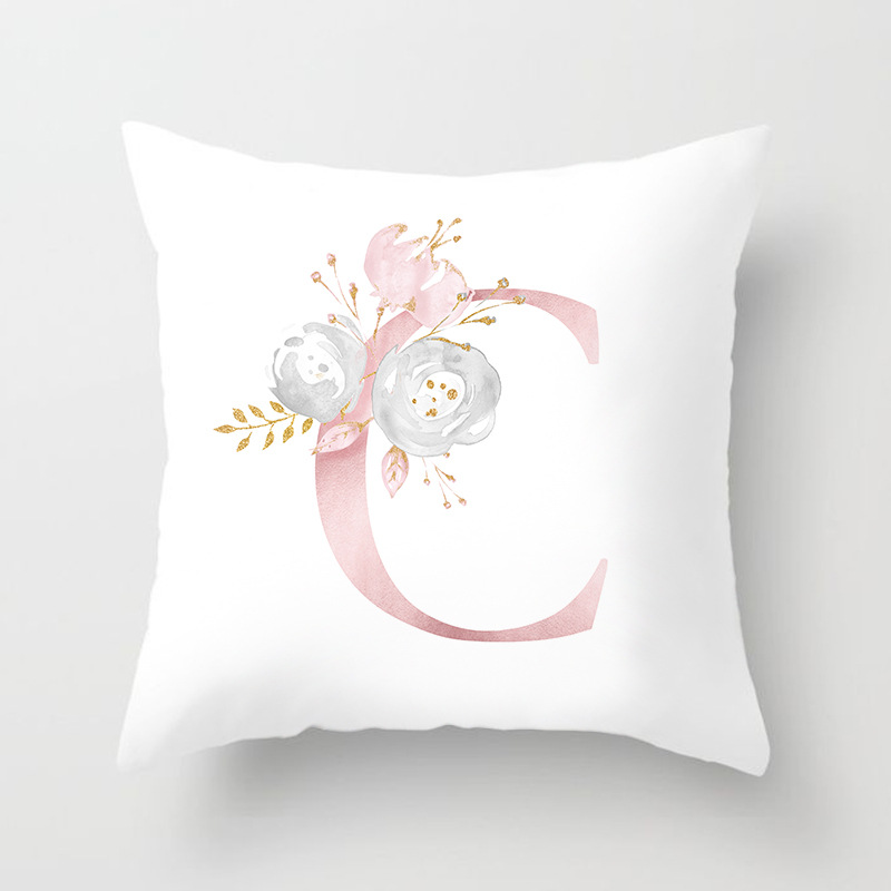 Image 5 - Rose Gold Pink English Letter Cushion Cover Valentine's Day Gifts Kissen Decorative Throw Pillowcase for Couch Car Sofa Home-in Cushion Cover from Home & Garden