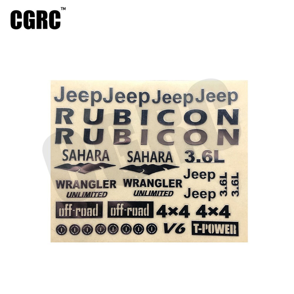3D Metal Stereoscopic Sticker Badge For 1/10 Rc Crawler Car Axial Scx10 90046 90047 Wrangler Cherokee