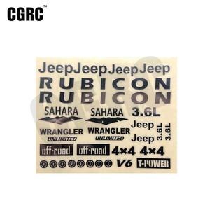 3D Metal Stereoscopic Sticker Badge For 1/10 Rc Crawler Car Axial Scx10 90046 90047 Wrangler Cherokee(China)