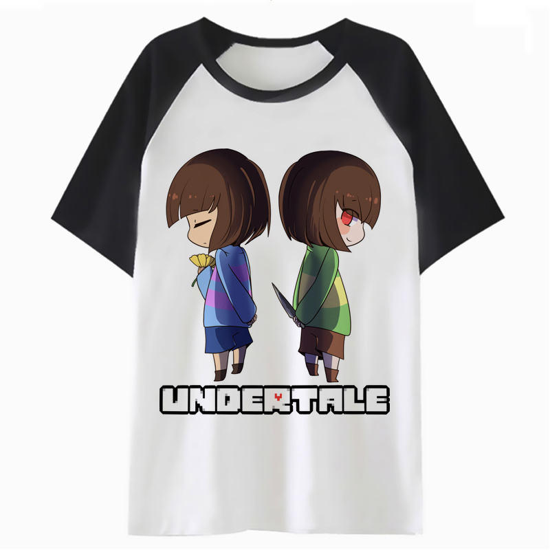 Frisk Undertale T Shirt Tshirt Men Hop Funny Harajuku Hip Tee Top T-shirt Male Clothing Streetwear For PF2379