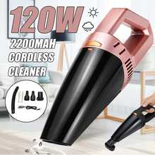 12V 120W Cordless Wireless Handheld Vacuum Cleaner Wet Dry USB Rechargeable Mini Portable Dust Collector For Home Car Cleaning(China)