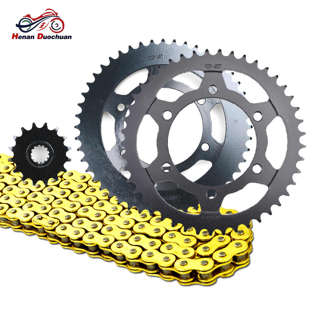 525 16T 45T 48T Motorcycle Chain and Front Rear Sprocket for Yamaha