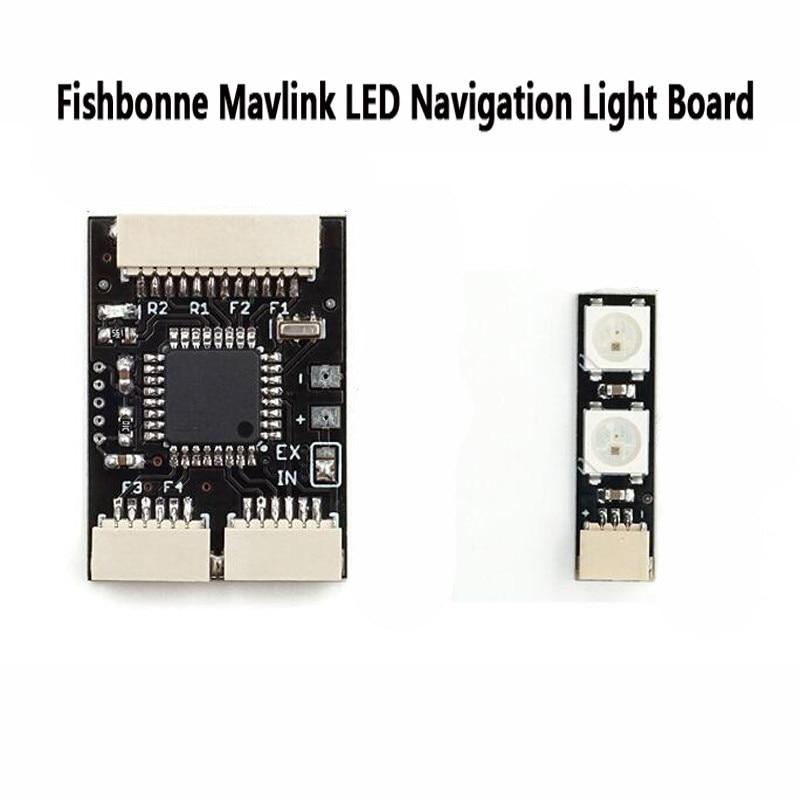 Fishbonne Mavlink LEVOU Placa de Luz de Navegação para Pixhawk APM2.6/2.8 2/3/4/5 Pixracer NAVIO2 controlador de Vôo de RC Zangão PXFmini