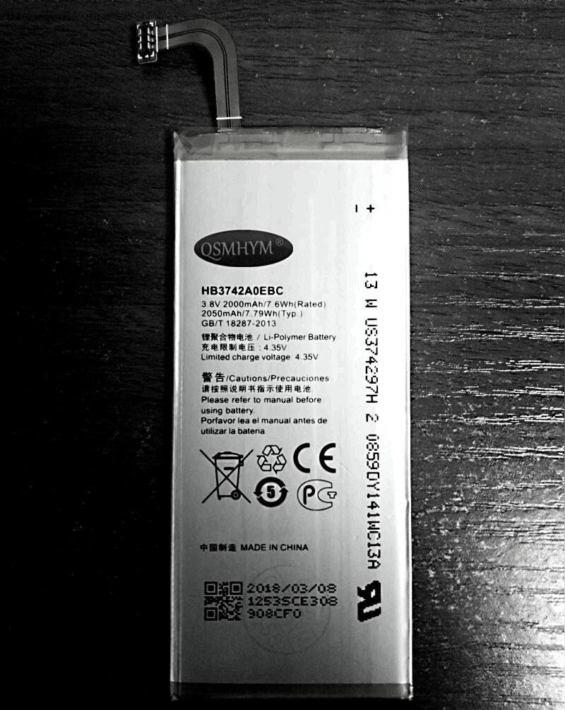QSMHYM Фирменная Новинка HB3742A0EBC 2000 mAh 3,8 V для Huawei Ascend P6  P6-U06