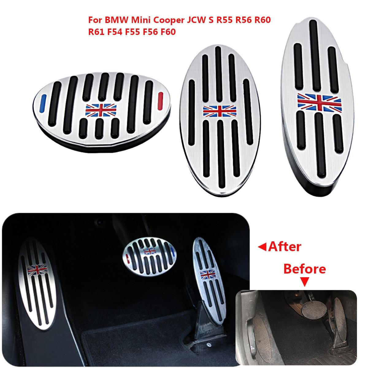 Alumínio Apoio Para Os Pés Do Freio Gás Pedal Da Embreagem Placa de Cobre para BMW para Mini para JCW Cooper S R55 R56 R60 R61 f54 F55 F56 F60