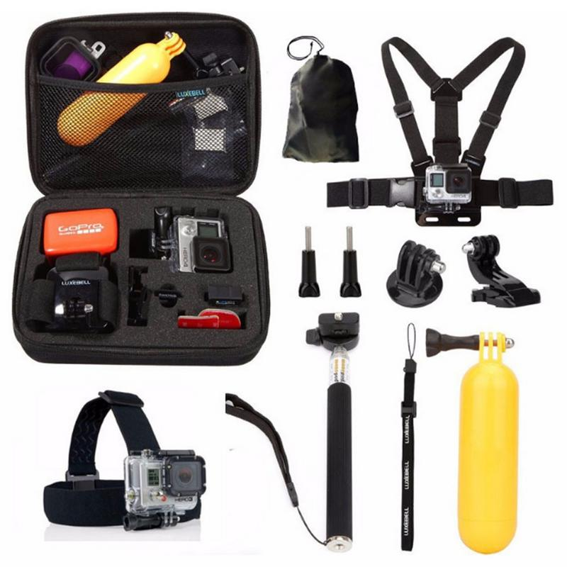 10 IN 1 Go Pro Accessories Set For GoPro Hero 7 6 5 4 4 Session 3+ 3 Xiaomi Yi Sports Camera Accessory Kit(China)